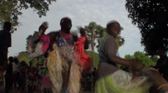 Dance for the young Diola initiated it casamance senegal - stock footage