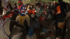 Dance and music for the young Diola initiated it casamance senegal - stock footage