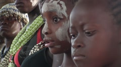 Learning for the young Diola of the senegal initiation rite - stock footage