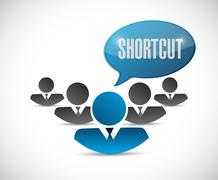 Shortcut teamwork sign concept Stock Photos
