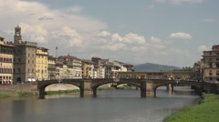 Ponte Vecchio, slow motion Stock Footage