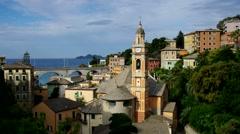 The town Zoagli in Liguria Stock Footage