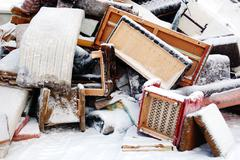 Old furniture for disposal Stock Photos