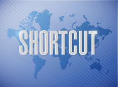 Stock Photo of Shortcut world sign concept illustration