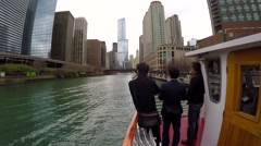 Tourists aboard Chicago's Leading Lady Cruises Stock Footage