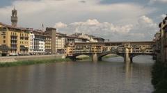 Ponte Vecchio, timelapse Stock Footage