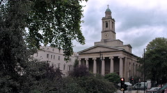 Church building in London, England. Stock Footage