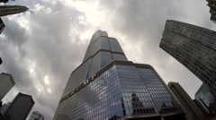 Trump Tower Chicago from the Architecture Foundation River Cruise. Stock Footage