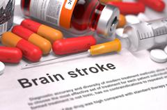 Diagnosis - Brain Stroke. Medical Concept Stock Illustration
