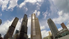 Chicago skyscrapers from the Architecture Foundation River Cruise. Arkistovideo