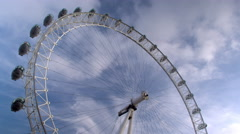 The London Eye in London, England. Stock Footage