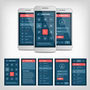 vector conception of mobile user interface - stock illustration