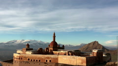 Ishak Pasha Palace, ocated in the Doğubeyazıt district of Ağrı  Stock Footage