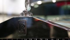 Stock Video Footage of Rolls Royce emblem