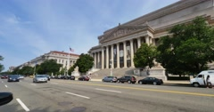 Archives of the United States Building Establishing Shot - stock footage