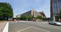 Federal Bureau of Investigation FBI Building Establishing Shot - stock footage