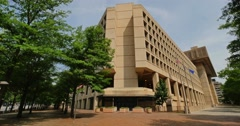 Federal Bureau of Investigation FBI Building Establishing Shot Stock Footage