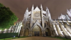 Time-lapse of Westminster Abbey in London Stock Footage