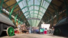 Covent Garden time-lapse in London. Stock Footage