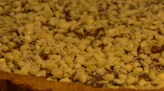 Nutella and nuts home made tart - stock footage
