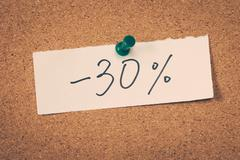 Stock Photo of 30 thirty percent off