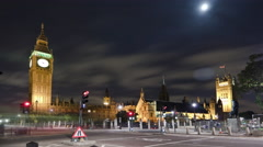 Time-lapse of the Victoria Tower at Westminster Palace in London. Stock Footage