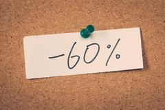 60 sixty percent off Stock Photos