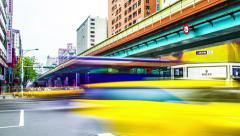 Time Lapse - Traffic at the Road Intersection in Taipei, Taiwan - stock footage