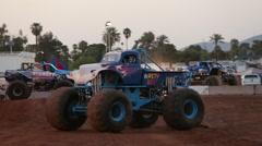 Monster Truck Flip Stock Footage