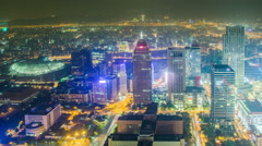 Time Lapse - Looking Down at the Cityscape of Taipei Taiwan Stock Footage