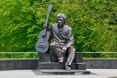 Monument of Vladimir Vysotsky. Kaliningrad, Russia Stock Photos