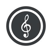 Stock Illustration of Round black music sign