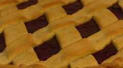 Blueberry home made tart. Rotation shooting. Center Stock Footage