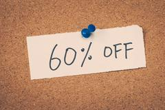 60 sixty percent off - stock photo