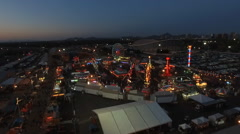 Fairgrounds at Night Stock Footage
