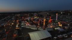 Fairgrounds at Night - stock footage
