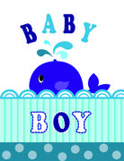 whale baby boy - stock illustration
