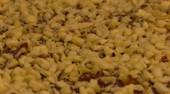 Nuts and Nutella home made tart. Rotation Stock Footage