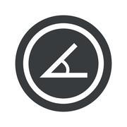 Round black angle sign - stock illustration