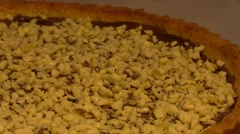 Nuts and Nutella home made tart. Rotation. overview 1 Stock Footage