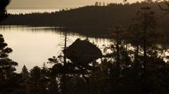 Static shot of Emerald Bay at Lake Tahoe, California. Stock Footage