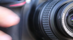 Closeup of Digital Camera Taking Pictures with Delayed Timer Stock Footage