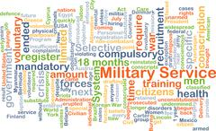 Military service background concept Piirros