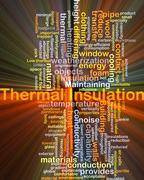 Thermal insulation background concept glowing Stock Illustration