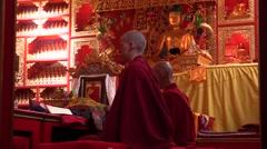 Monastery. pujas recited by Tibetan monks. Audio Stock Footage