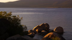 Static shot overlooking Emerald Bay at Lake Tahoe, California. Stock Footage
