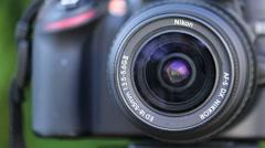 Closeup of Nikon Camera on Timer Stock Footage