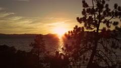 Static shot of sailboat out at Emerald Bay at Lake Tahoe, California. Stock Footage