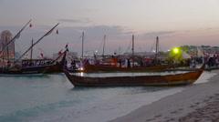 Daw festival in Doha Qatar Stock Footage