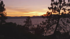 Static shot of Emerald Bay at Lake Tahoe, California, taken from across the bay. Stock Footage